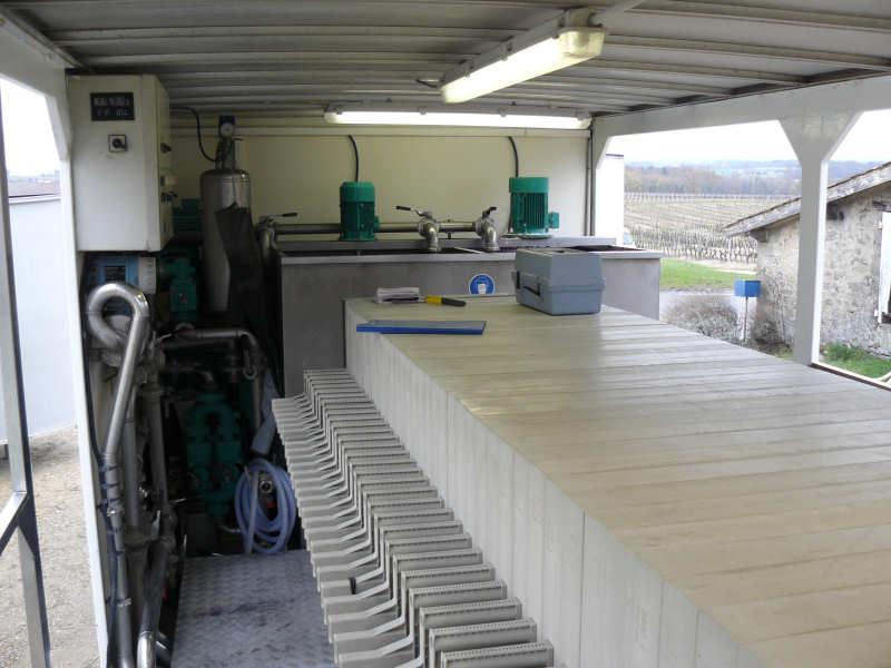 Filtre-presse pour filtration vin de Bordeaux
