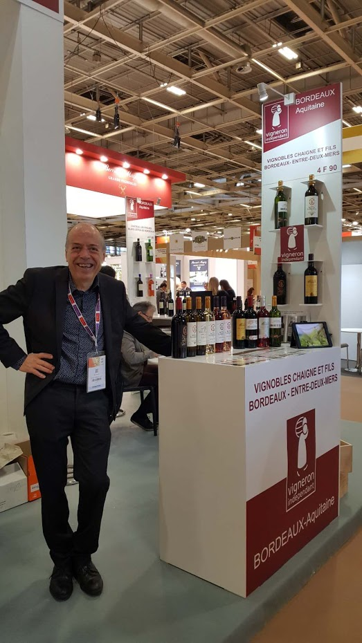 Régis Chaigne au salon Wine Paris